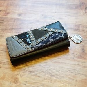 Black, Red and Gray Nicole Lee Wallet